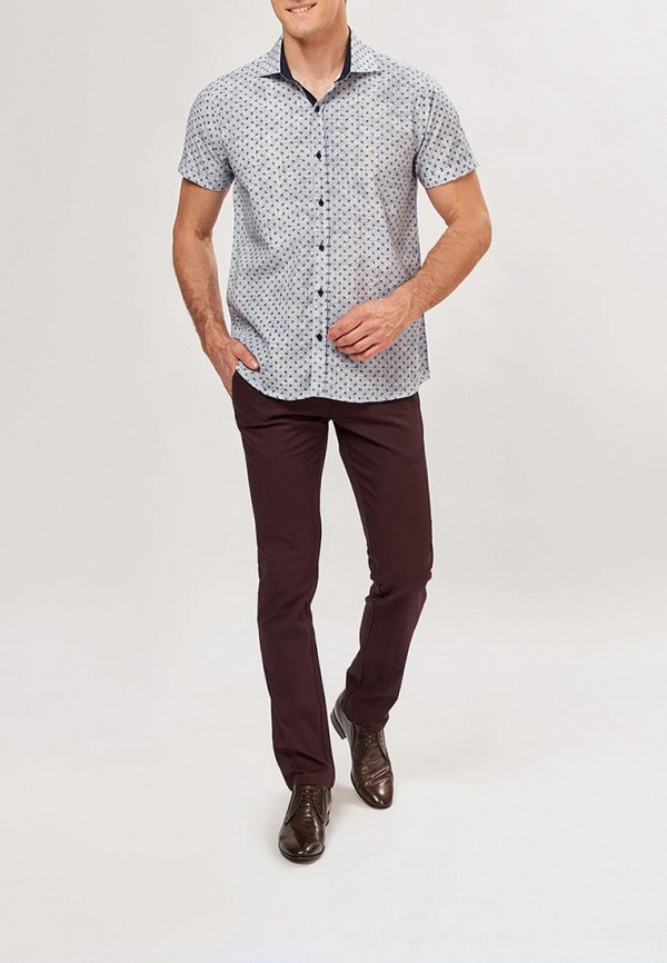 Фото 2 - Мужскую рубашку Paspartu голубого цвета