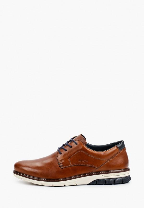 мужские низкие ботинки rieker, коричневые