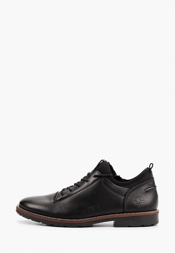 мужские низкие ботинки rieker, черные