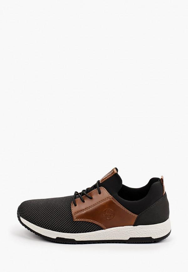 мужские низкие кроссовки rieker, черные