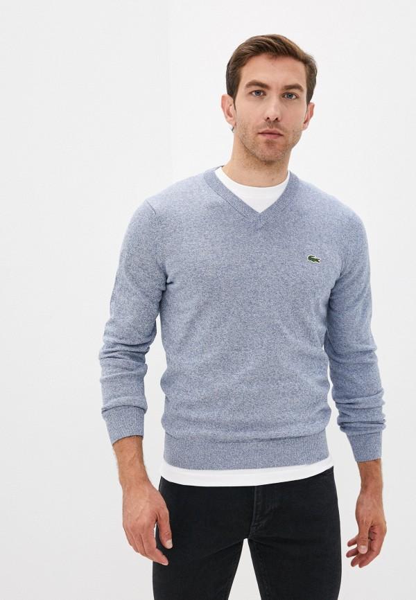 Пуловер Lacoste голубого цвета