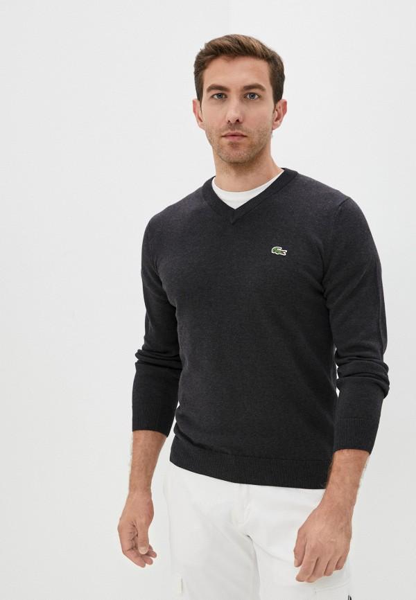 Пуловер Lacoste серого цвета