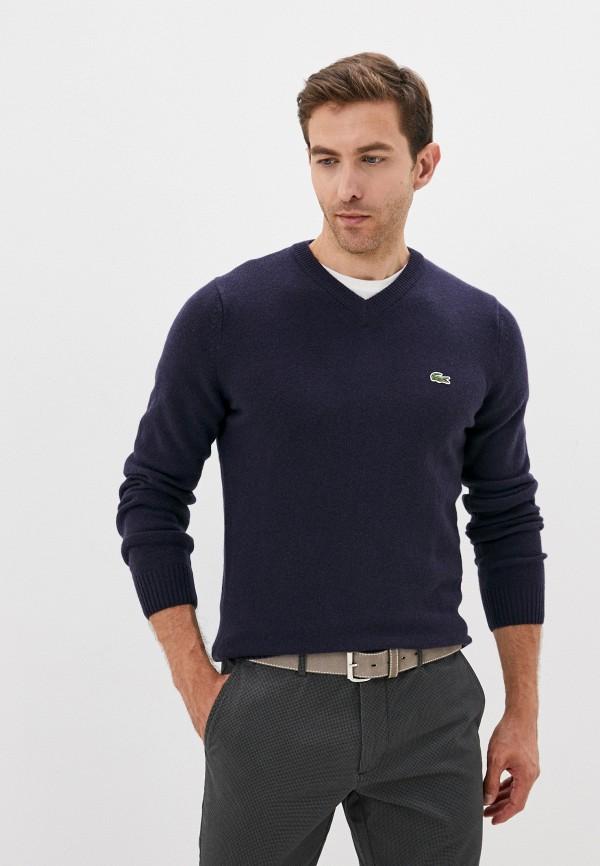 Пуловер Lacoste синего цвета