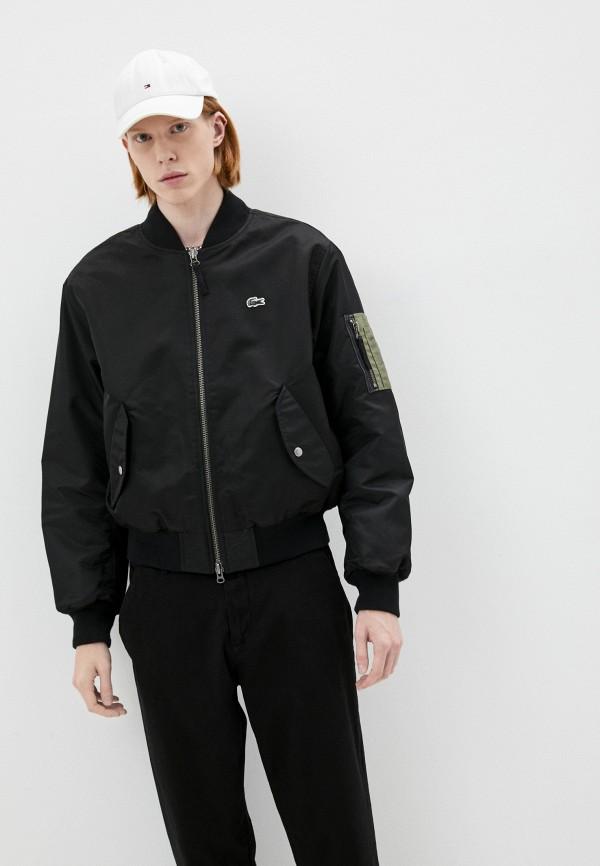 мужская куртка бомбер lacoste, черная