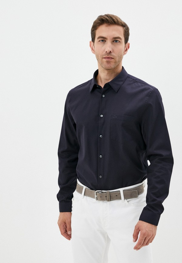 Рубашка Lacoste синего цвета