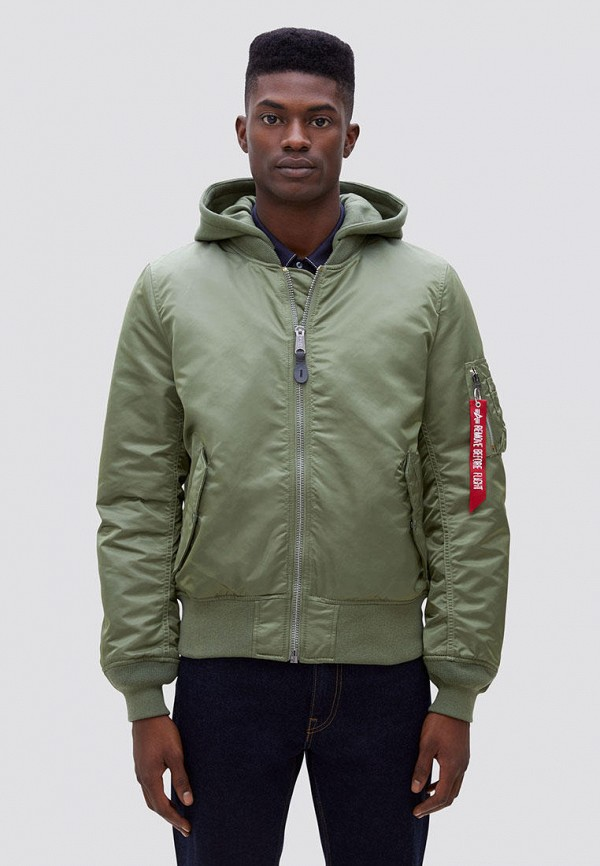мужская куртка alpha industries, хаки