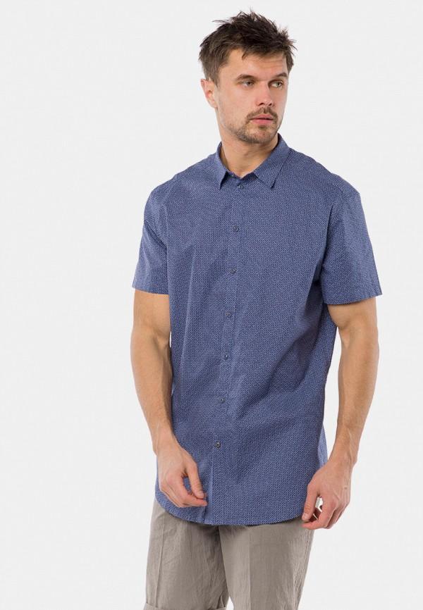 мужская рубашка с коротким рукавом mr520, синяя