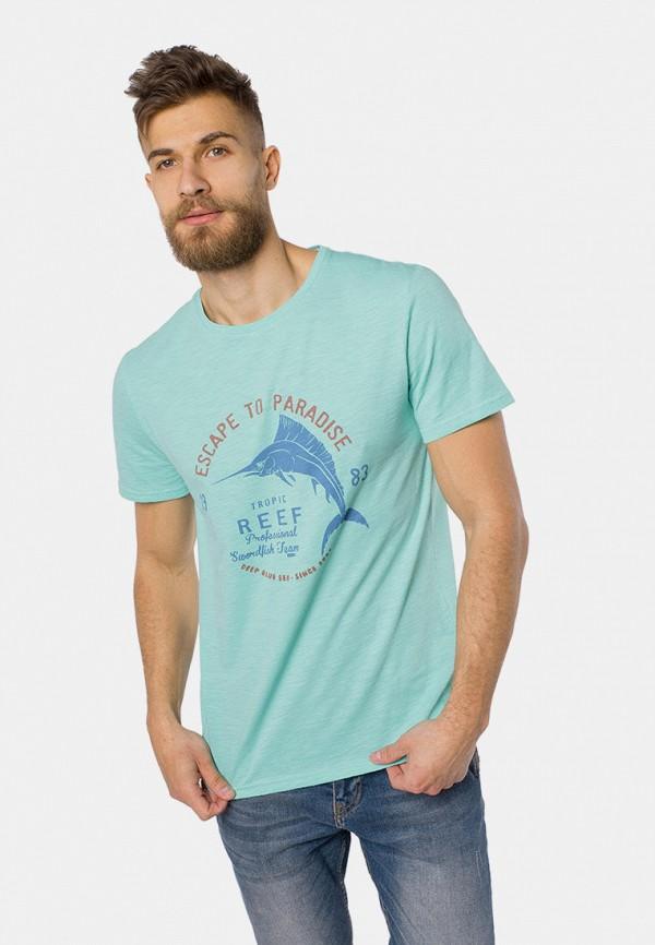 мужская футболка с коротким рукавом mr520, бирюзовая
