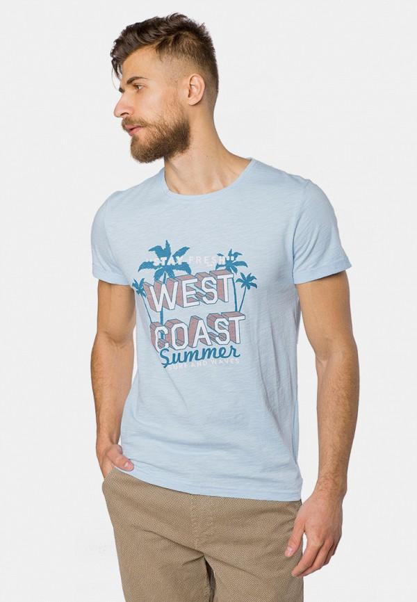 мужская футболка с коротким рукавом mr520, голубая