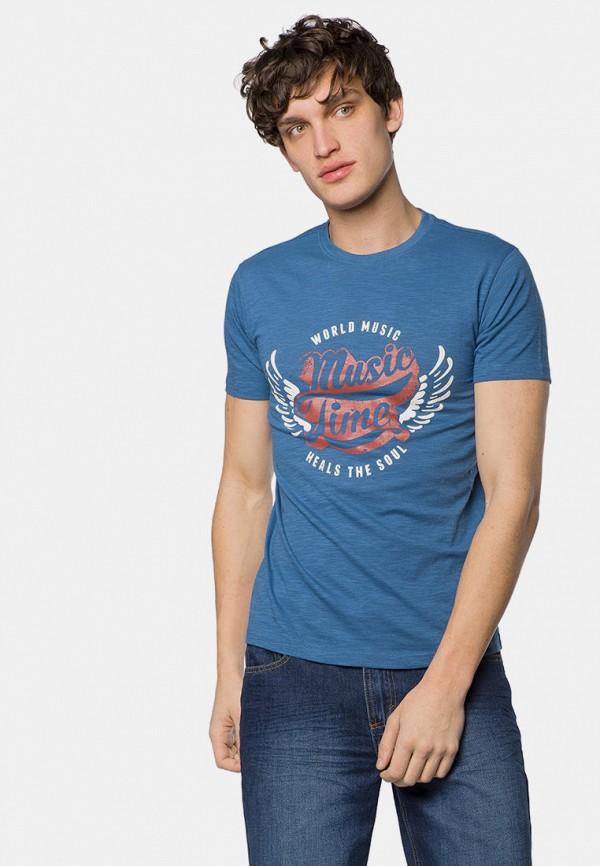 мужская футболка с коротким рукавом mr520, синяя