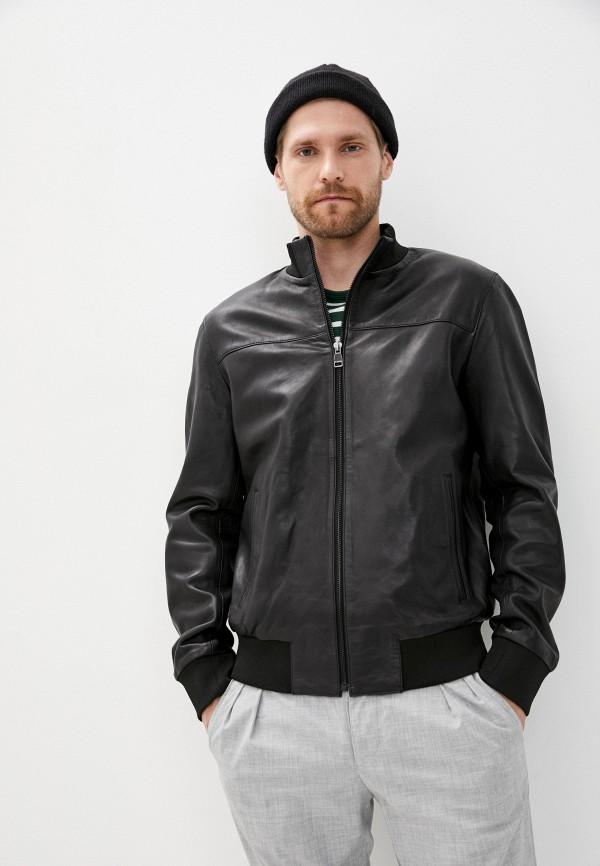 мужская кожаные куртка al franco, черная