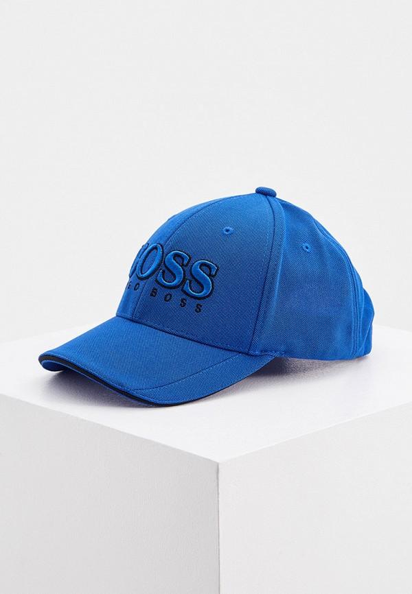 мужская бейсболка boss, синяя