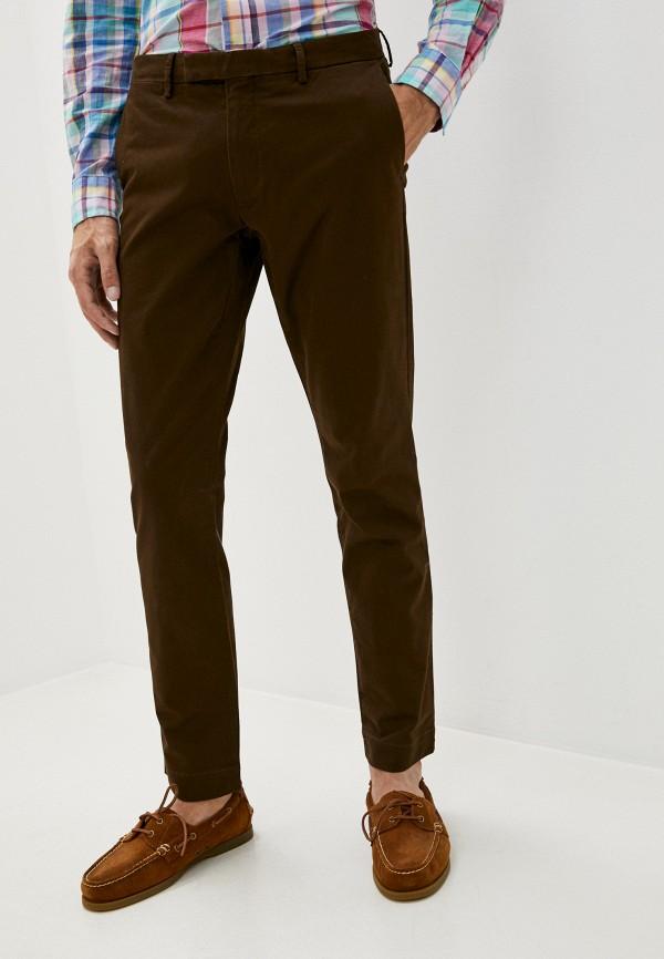 мужские повседневные брюки polo ralph lauren, коричневые