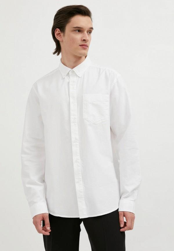мужская рубашка с длинным рукавом finn flare, белая