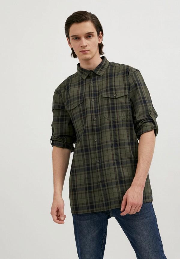 мужская рубашка с длинным рукавом finn flare, зеленая