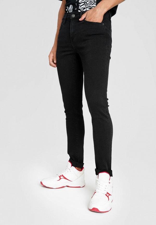мужские зауженные джинсы o'stin, черные