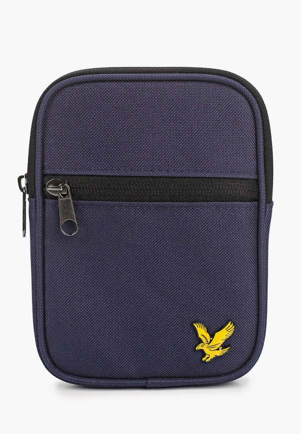 мужская сумка через плечо lyle & scott, синяя