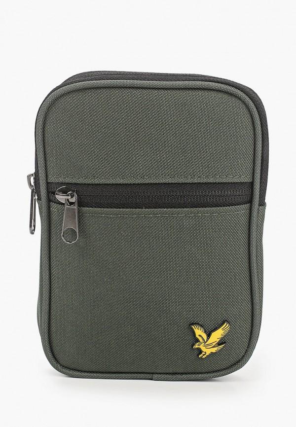 мужская сумка через плечо lyle & scott, зеленая