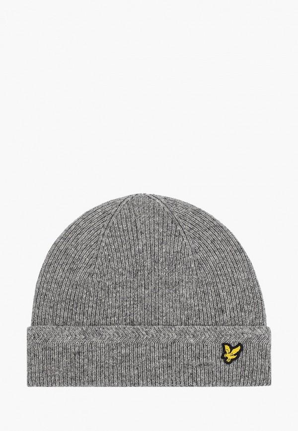 мужская шапка lyle & scott, серая