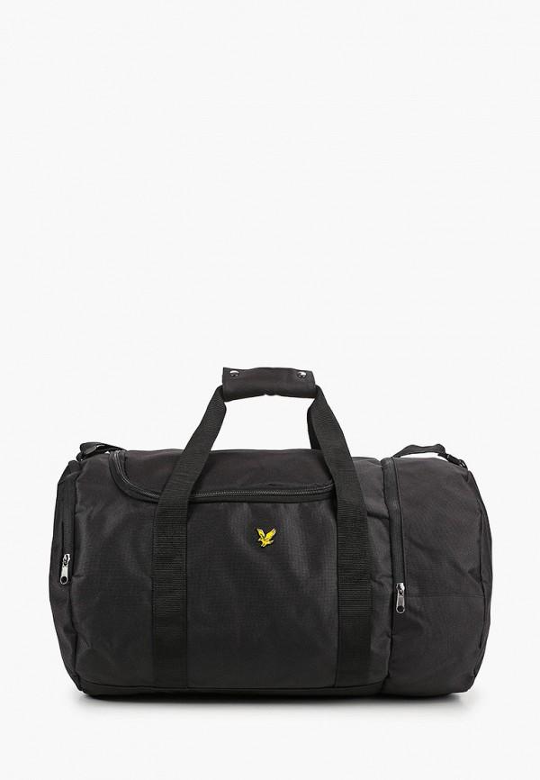 мужская спортивные сумка lyle & scott, черная