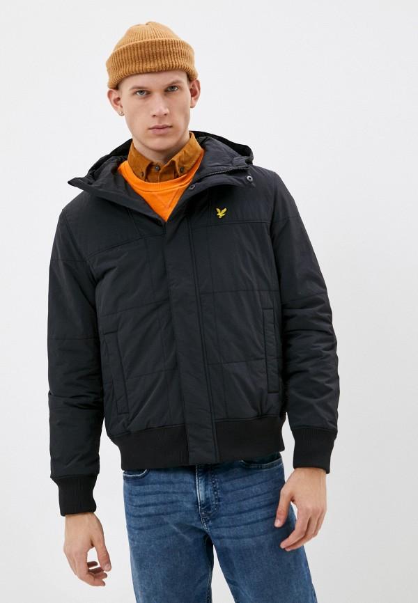 мужская утепленные куртка lyle & scott, черная