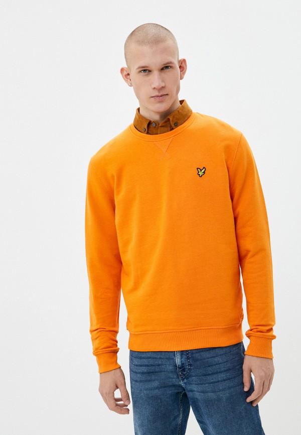 мужской свитшот lyle & scott, оранжевый
