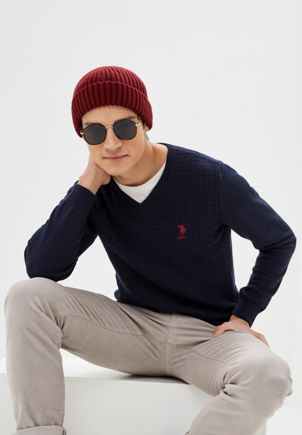мужской пуловер u.s. polo assn, синий
