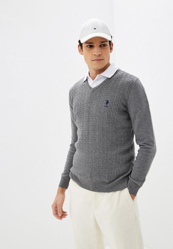 мужской пуловер u.s. polo assn, серый