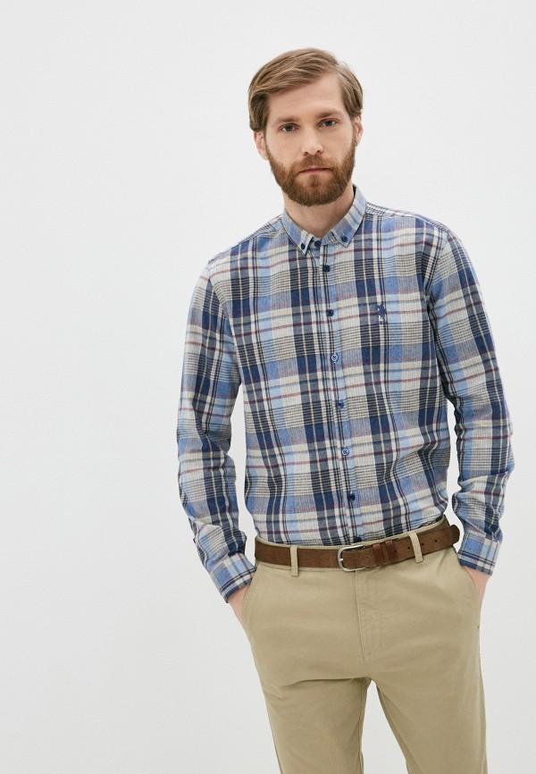 мужская рубашка с длинным рукавом u.s. polo assn, разноцветная