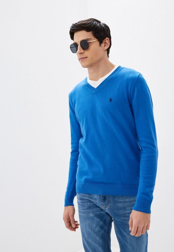 мужской пуловер u.s. polo assn, голубой