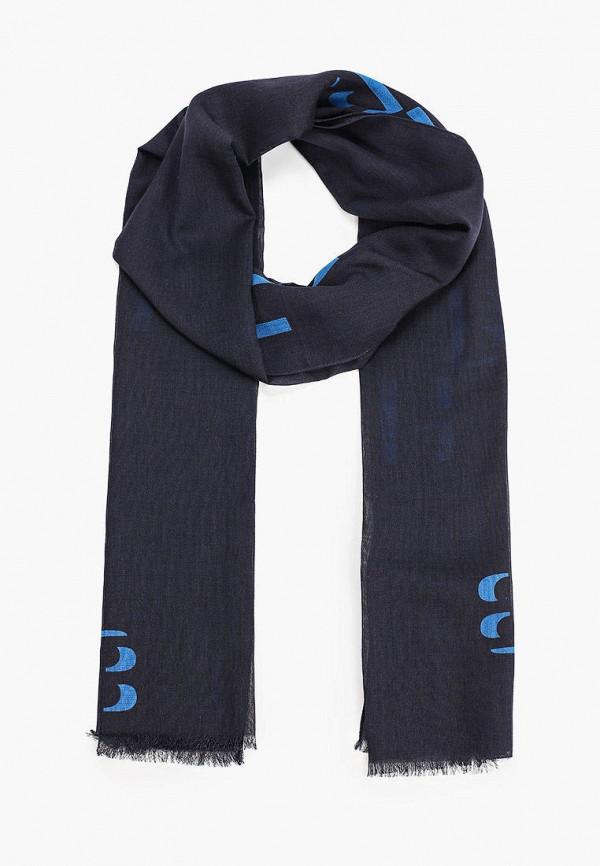 мужской шарф boss, синий