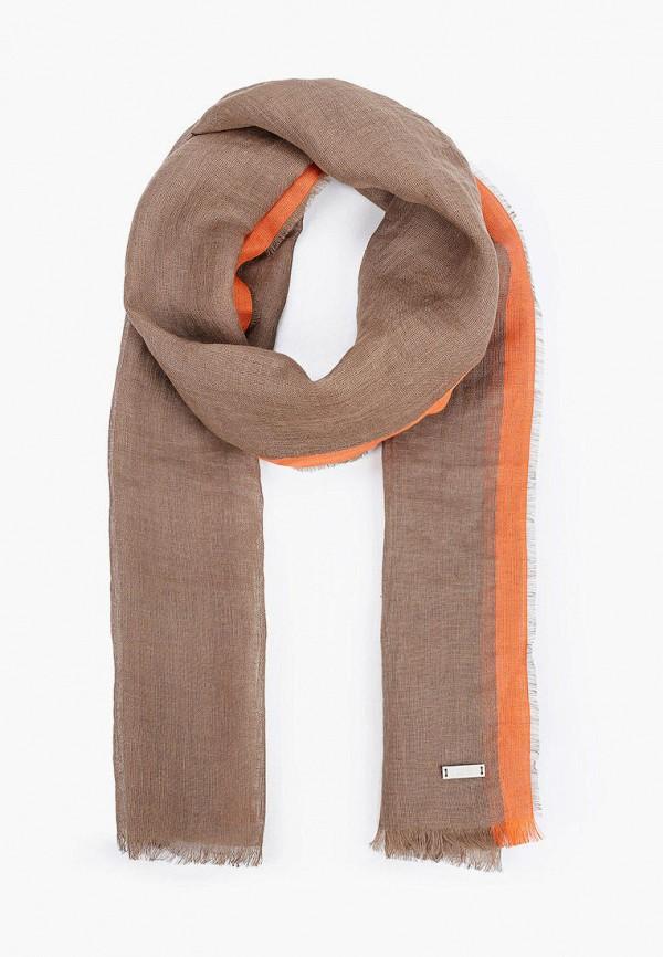 мужской шарф boss, коричневый