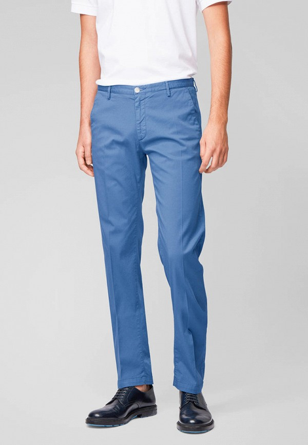 мужские повседневные брюки boss, голубые