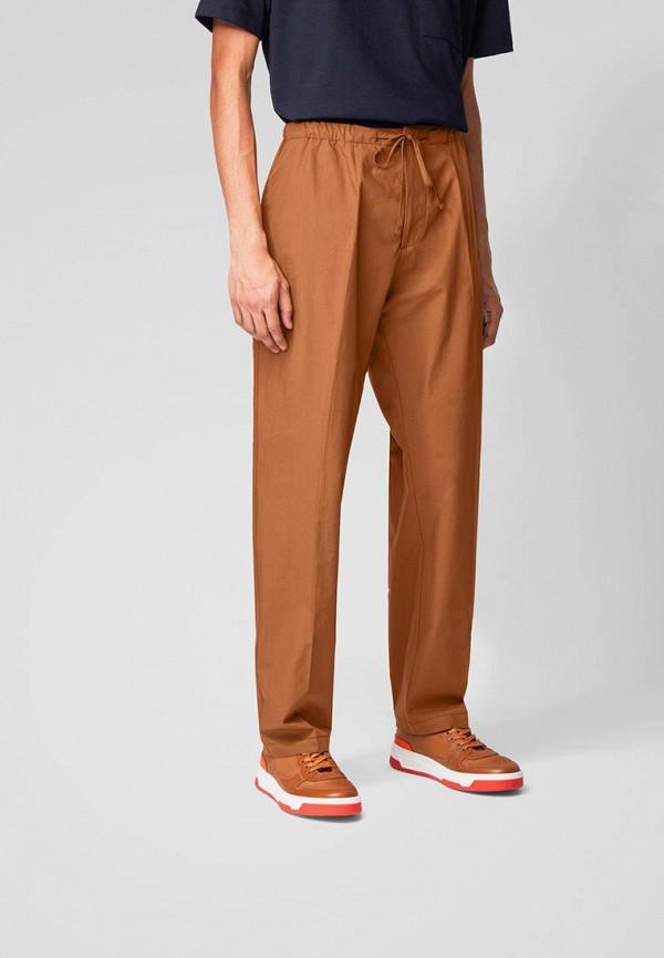 мужские повседневные брюки boss, коричневые