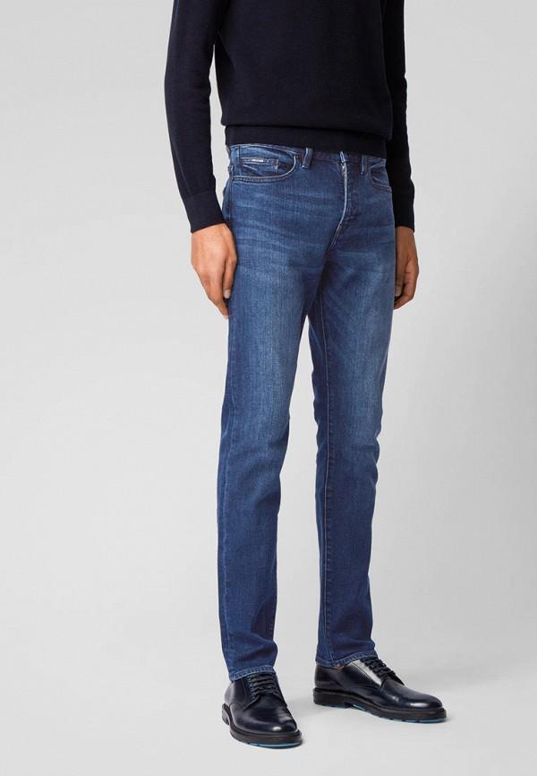 мужские прямые джинсы boss, синие