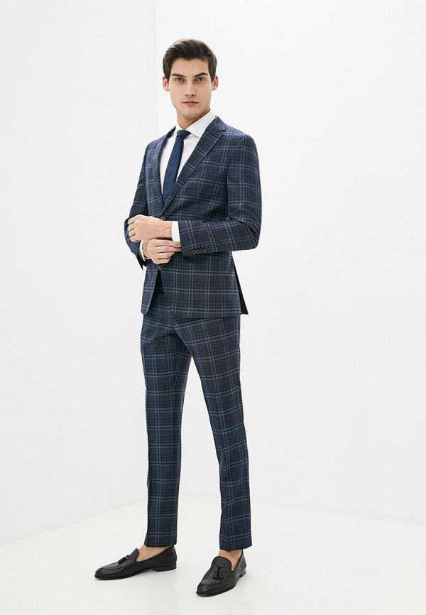 мужской костюм boss, синий