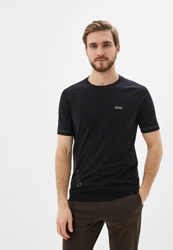 мужская футболка с коротким рукавом boss, черная