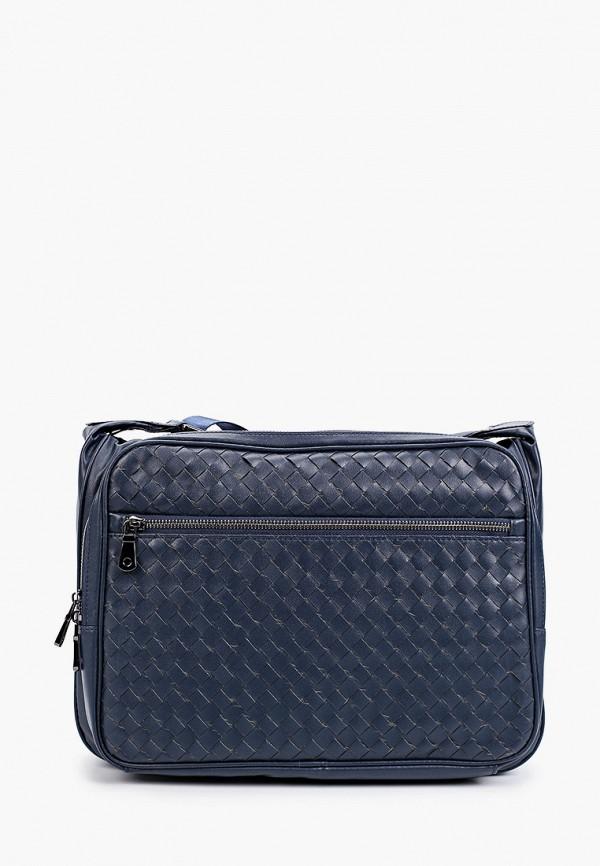 мужская сумка через плечо vitacci, синяя