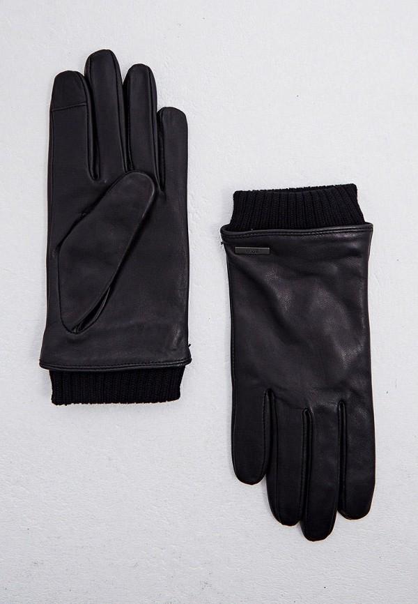 мужские кожаные перчатки boss, черные
