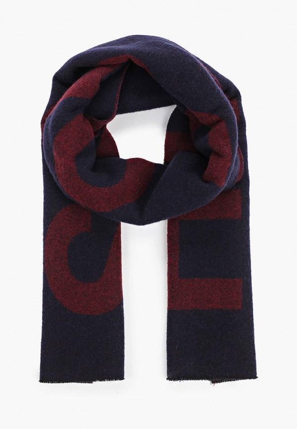 мужской шарф boss, разноцветный