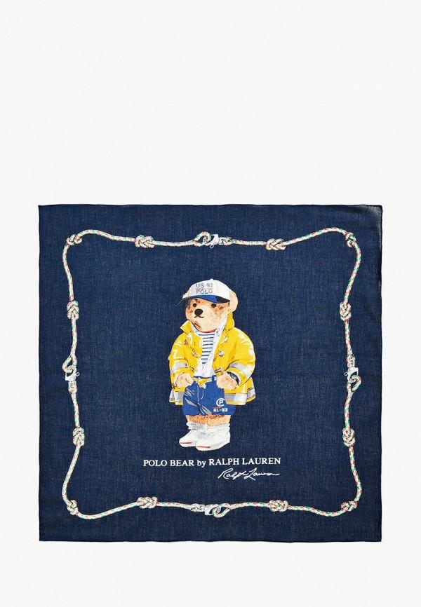 мужской платок polo ralph lauren, синий