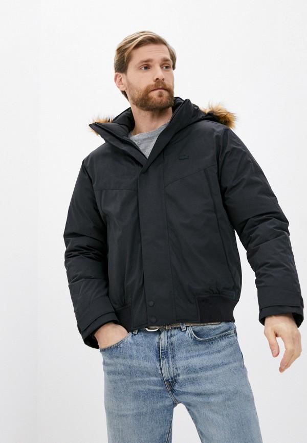 мужская утепленные куртка lacoste, черная