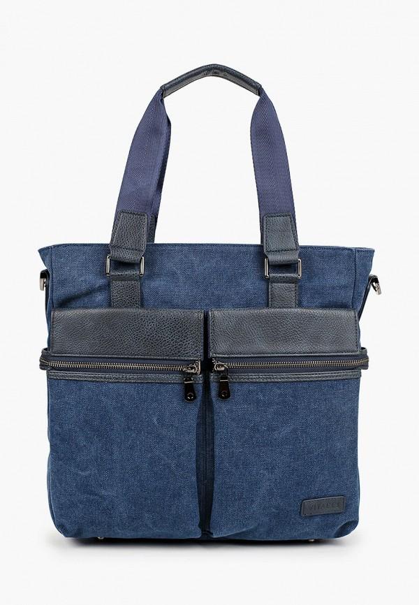 мужская сумка с ручками vitacci, синяя
