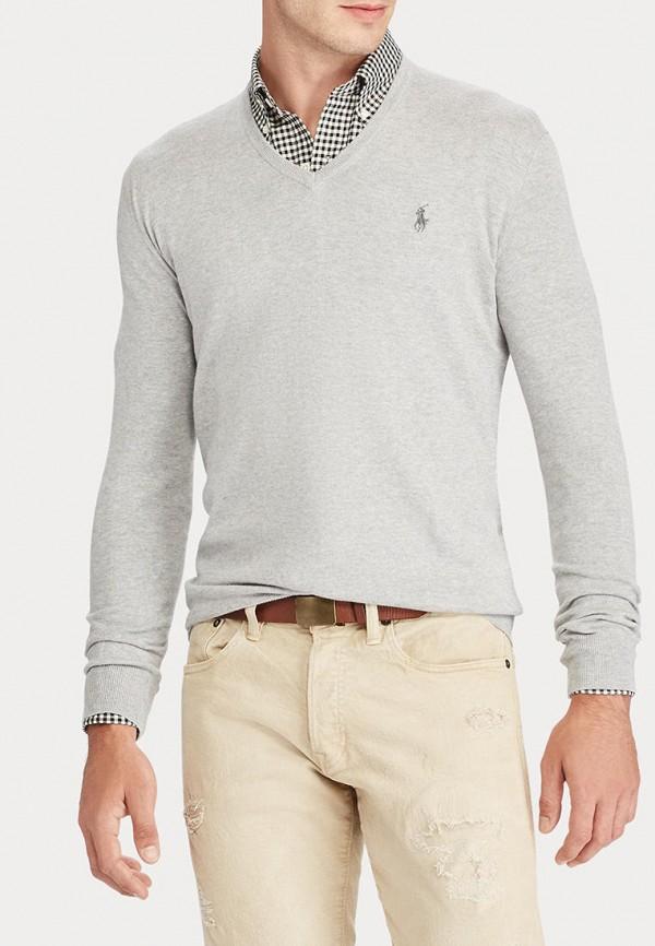 мужской пуловер polo ralph lauren, серый