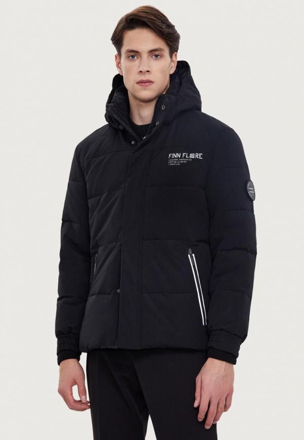 Куртка утепленная Finn Flare черного цвета