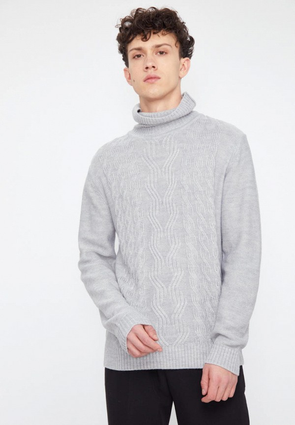 мужской свитер finn flare, серый