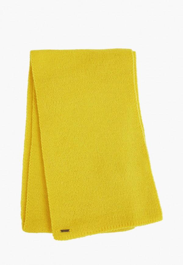 мужской шарф finn flare, желтый