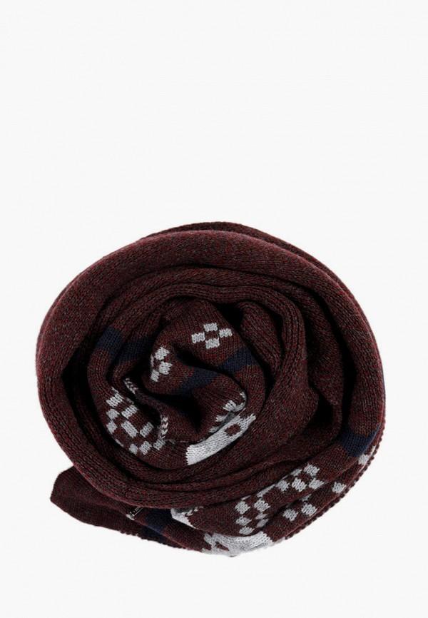 мужской шарф finn flare, бордовый