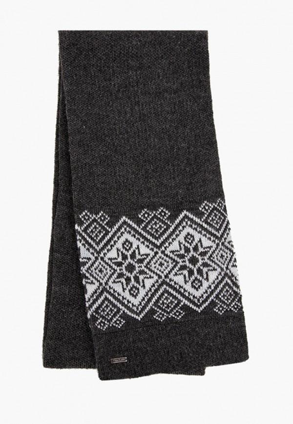 мужской шарф finn flare, серый