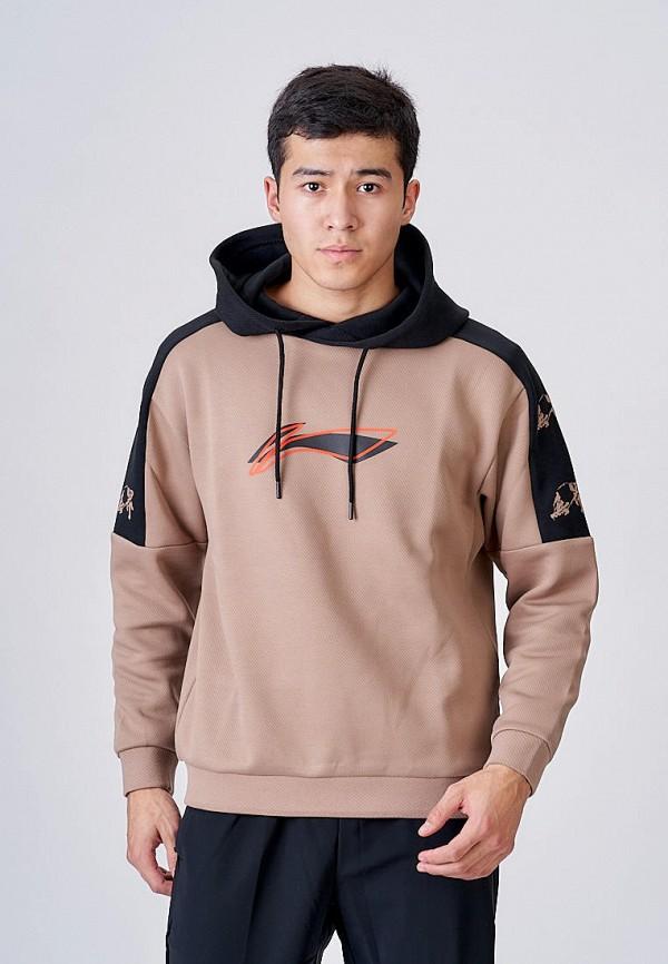 мужские худи li-ning, коричневые